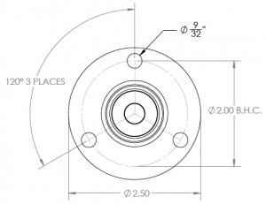 170 three bolt flange side mounts
