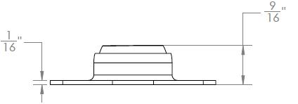 160 Series - Junior Flange Side Mount (Side View)