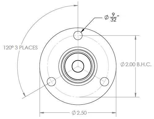 170 Series - Junior Flange Assembly (Top View)