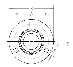 three bolt Flushmount