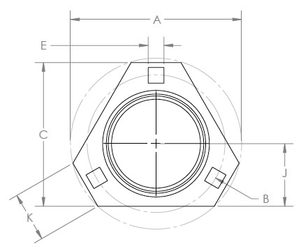Triangle Flange (Top View)