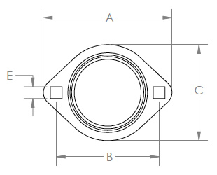 Two Bolt Flanges - Drawing 1