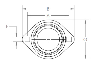 Two Bolt Flush Mount (Top View)
